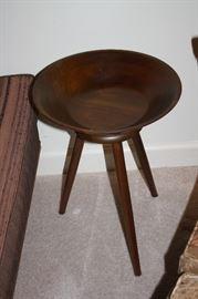 Mid-century walnut side bowl