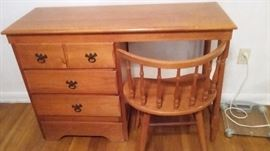 Colonial style desk and chair