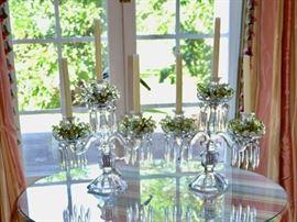 Crystal candelabras