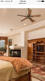 master King bed wall unit from Touch of History & all TV's
