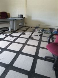 Computer room flooring, over 3000 square feet