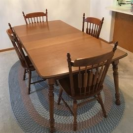 Tell City Dining Table and four chairs