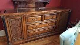 Excellent condition!  Magnavox floor model console stereo.  Beautiful cabinetry!  Works great!