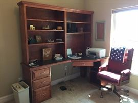 Wonderful Executive Computer Desk, Solid Wood, Plus Chair