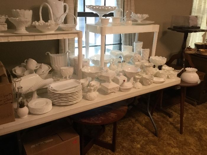 Wonderful collection of milk glass - some are Fenton