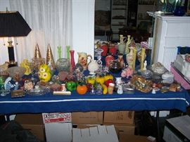 ANOTHER TABLE OF GLASS & OTHER GOODIES