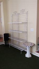 White wrought iron shelf