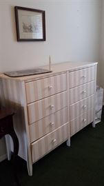 Pink and white stripes Dresser