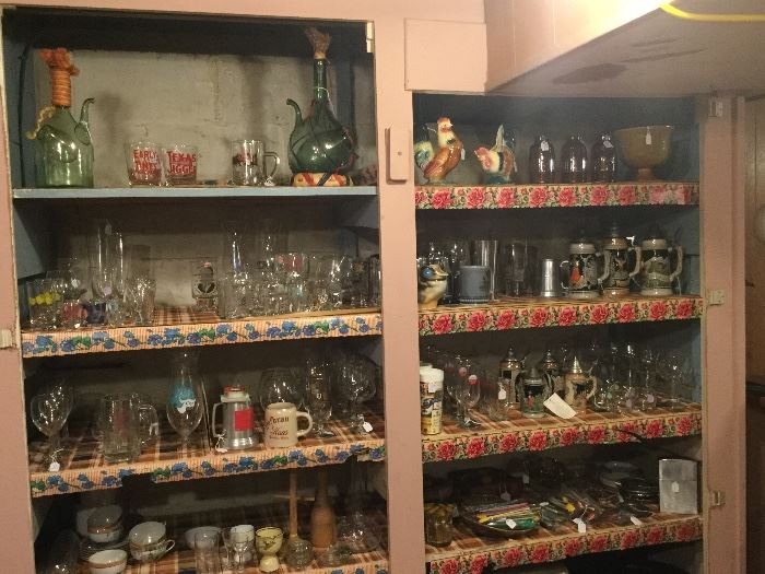 Extensive collection of barware