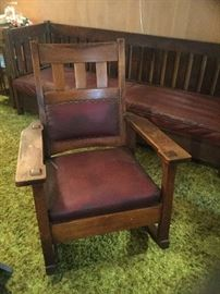 Stickley rocking chair with label