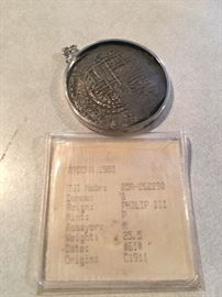 Phillip III Shipwreck coin 1622 - Mel Fisher - Original