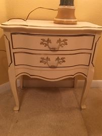 2 French provincial nightstands