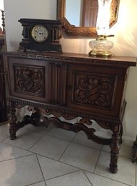 Antique Carved Console