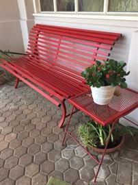 Tubular Steel Garden Bench by Fermob (France)