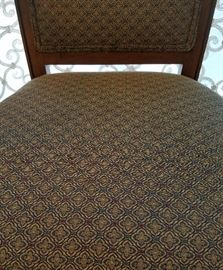 Dining table and chairs; solid wood by Kindel.  Comes with leaves and complete set of pads.