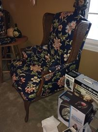 Side of wing back chairs