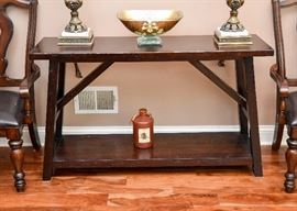Rustic Style Wood Console Table