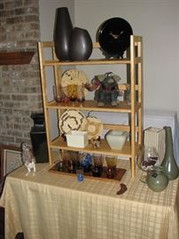 Haeger pottery, southwestern woven baskets / plates