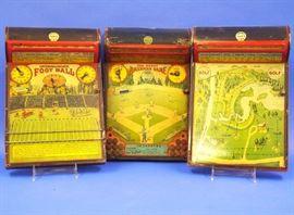 8.25 Frantz Toy Co. Tin Litho games, Football, Baseball & Golf