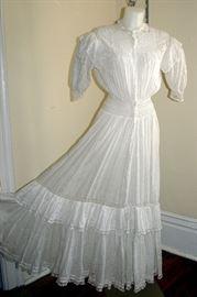 Victorian lawn tea dress
