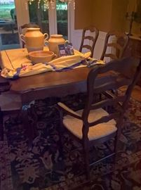 French Dining Table and Chairs