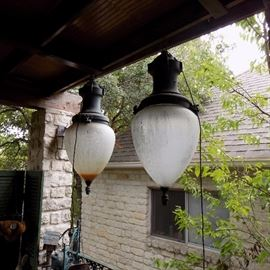 RARE!  Pair Amazing Antique lamps from Canal Street in New Orleans!