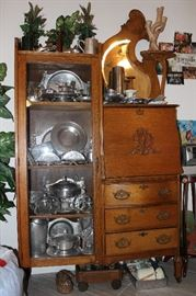 Antique double sided wardrobe desk