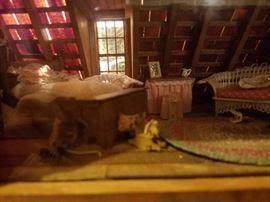 Attic room diorama