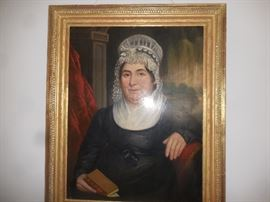 Early portrait on panel, large