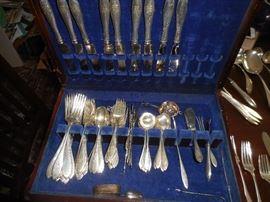 Sterling Silver large flatware set