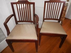 Dining Chairs, Bellflower inlaid