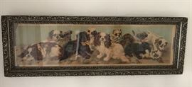 Antique King Charles Cavalier Dogs Long Picture