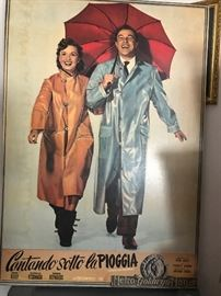 "Original ""Singin in the Rain"" mounted Movie Poster"