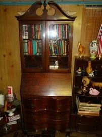 3 drawer Secretary desk from 1940's desk comes without books