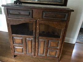 Distressed wine cabinet, holds 20 bottles of wine