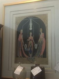 THREE GRACES.  SIGNED AND NUMBER BY ERTE