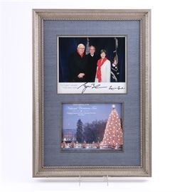 Signed 2006 Photo of President G.W. and First Lady Laura Bush