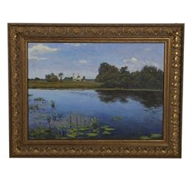 Russian Oil Painting on Canvas Landscape Scene