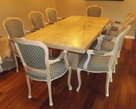KDO011 Stunning Marble Dining Table and Chairs