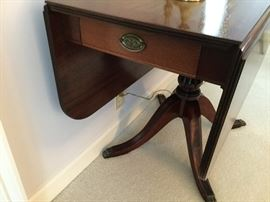 Drop Leaf Table Side View
