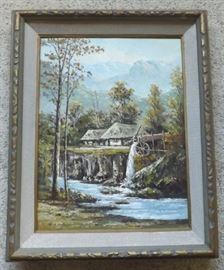 FVM002 Wood Framed Original Oil on Canvas Art