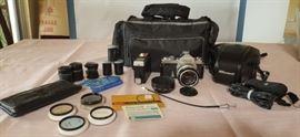 FVM068 Vintage Nikon Nikomat Camera, Accessories & More