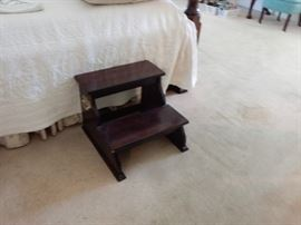 Mahogany Bed Steps