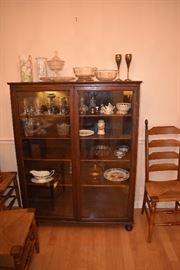 Walnut Antique China Cabinet