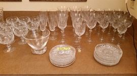 Part of Waterford, Steuben & other quality crystal collection.