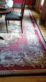 Beautiful 8' x 10' needlepoint area rug.