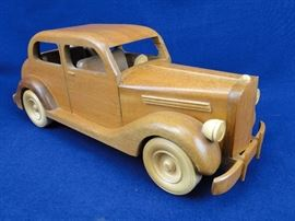 Wooden Vintage Sedan