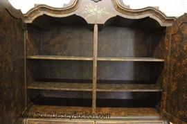 """— BEAUTIFUL —  Paint Decorated 2 Piece Linen Armoire by """"Maitland Smith""""  Located Inside – Auction Estimate $1000-$2000"""