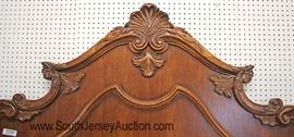 Victorian Style King Size Burl Mahogany Fancy Bed  Located Inside – Auction Estimate $400-$800
