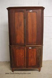 ANTIQUE 4 Door Blind Door CORNER Cabinet in the Mahogany  Located Inside – Auction Estimate $300-$600
